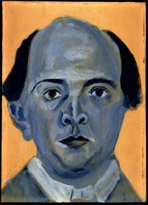 Autoretrato en Azul. Arnold Schönberg. 1910